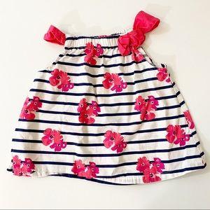 Toddler Girl Pink,White & Navy Floral Top 12-18 MO